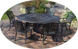 großer Gartentisch aus Aluminium Guss wetterfest