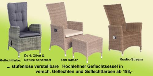 ... Polyrattan Stuhl Verstellbar Dekoration Alitopten.