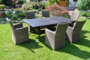 Wetterfeste leichte Gartenmöbel aus Polyrattan Sonnenpartner