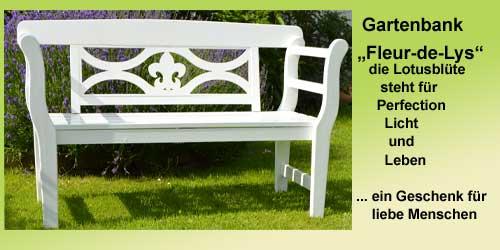 Gartenmöbel Angebot weiße holz Gartenbank im Landhaus Stil