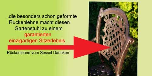 Hannover Gartensessel mit garantiertem Sitzerlebnis auf Alu Guss Gartenmöbeln