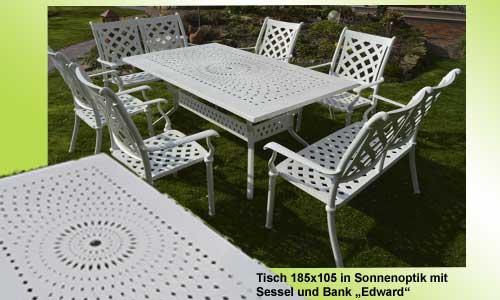 Nostalgische Gartenmöbel Weiß Metall ,Schöne Gartenmöbel Ideen, Extra  Stabile Gartenmöbel, Stabile Konstuktion,